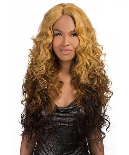 "Iness Front Lace Vivica Fox Natural Curly Futura 27"" Long Wig"