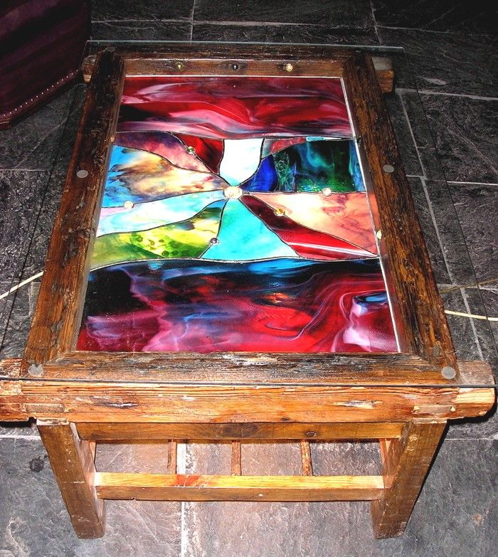 reclaimed stained glass table crafts stained glass and mosaic