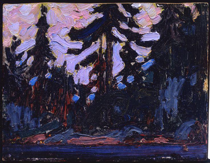 Tom Thomson Catalogue Raisonné   Nocturne, Algonquin Park, Summer 1915 (1915.53)   Catalogue entry