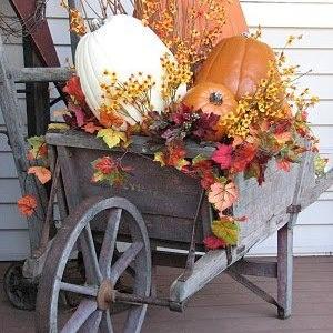 Pumpkin wheelbarrow