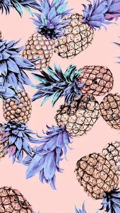 purple pineapple background iPhone 5 / 5s wallpaper