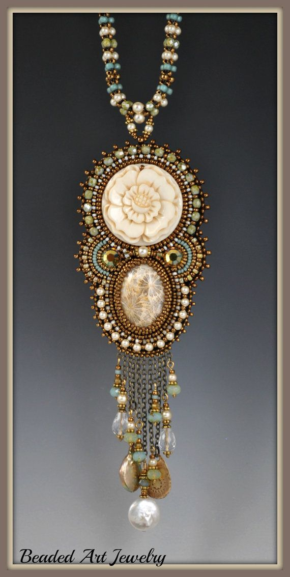 Bead+Embroidered+Beadwork+Beaded+Rose+Goddess+by+beadedartjewelry,+$378.00