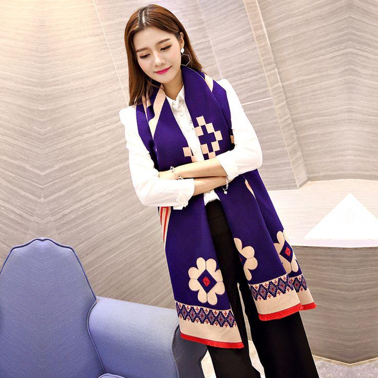 2017 Autumn and winter new style Poker plum V pattern  imitation cashmere scarf fashion women soft printing all-match shawl #Affiliate