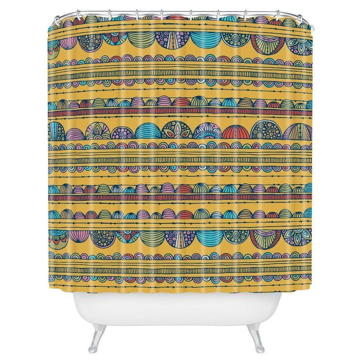 "Valentina Ramos Lottie in Yellow Shower Curtain (71""x74"") - Deny Designs"