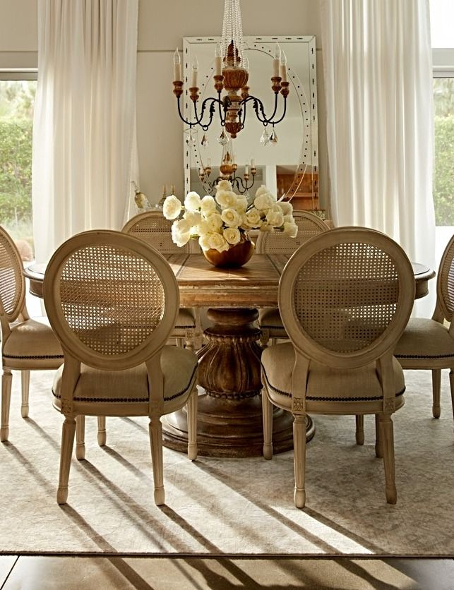 Inspired By Antique Finds From Turn Of The Century European Farmhouses,  This · Pedestal Dining TableDining ...