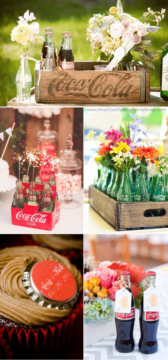 Ideas para decorar bodas con botellas de coca-cola