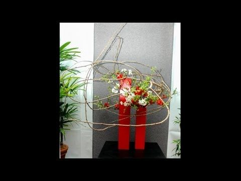 Sogetsu Ikebana Demonstration and Arrangements by Ping Block - YouTube