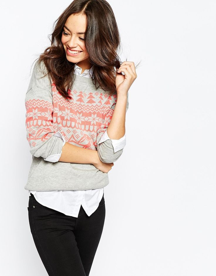 Only Fairisle Christmas Knitted Jumper
