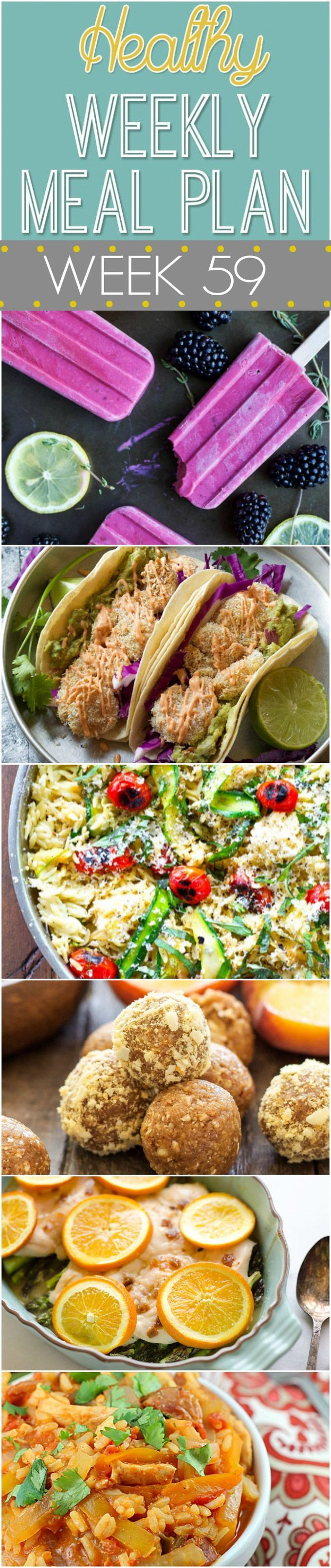 Healthy Weekly Meal Plan #59