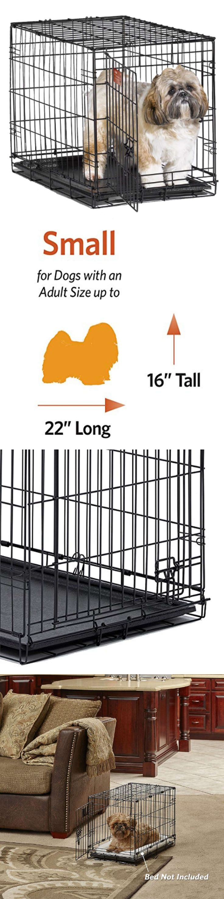 Cages and Crates 121851: Pet Kennel Dog Cat Cage Crate Animal 1Door W Divide Puppy Folding Steel 24 New -> BUY IT NOW ONLY: $52.6 on eBay!