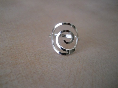 Sterling Silver Naruto Inspired Spiral Ring | sassyaccents - Jewelry on ArtFire