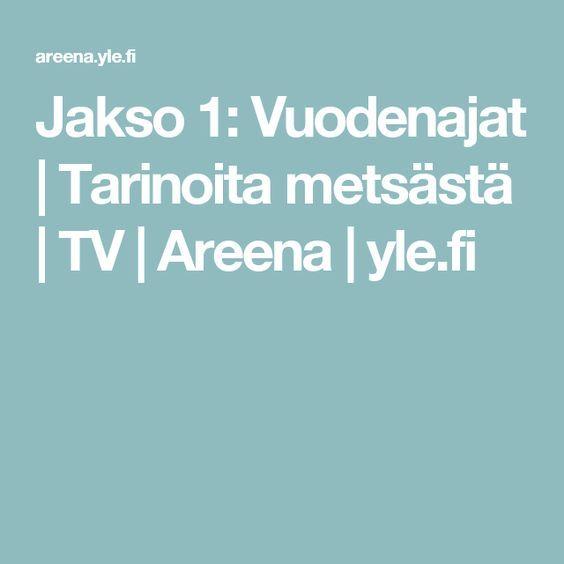 Jakso 1: Vuodenajat | Tarinoita metsästä | TV | Areena | yle.fi