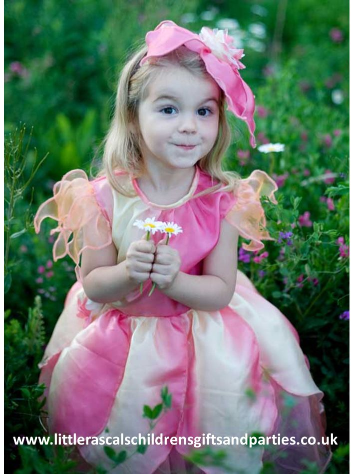 There are fairies and then there are flower fairies! We love this adorable little flower fairy dress with matching hat
