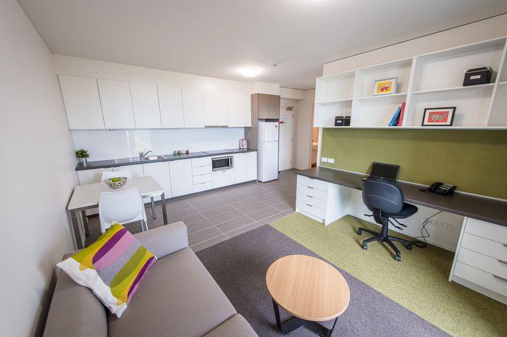 One Bedroom Apartments are fully furnished and recommended for postgrad or mature age students.
