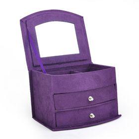 "Aspire Lint Jewelry Organizer / Kids' Jewelry Box, 4"" x 5 1/4"" x 4"" - Purple, Gift Idea #Aspire"