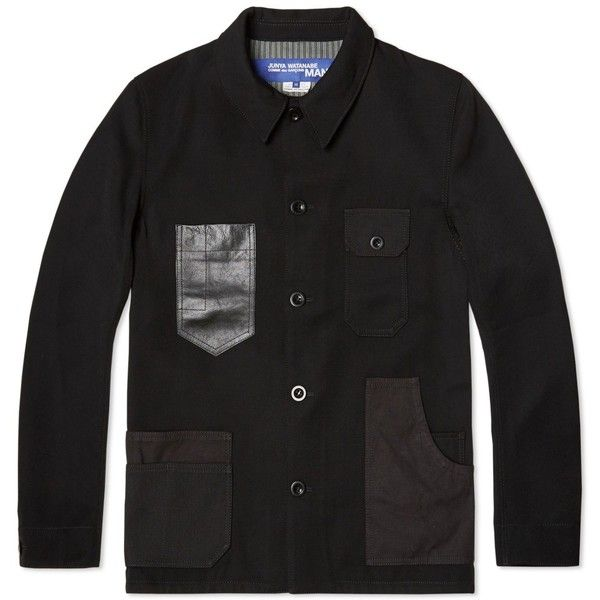 Junya Watanabe MAN x Hervier Pocket Jacket (69105 RSD) ❤ liked on Polyvore featuring mens, men's clothing, men's outerwear and men's jackets