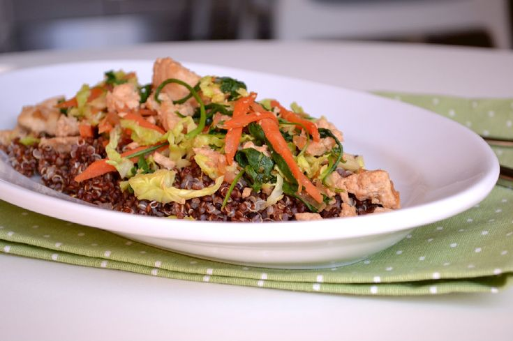 Red Quinoa with Soy-Lime Tofu Stirfry
