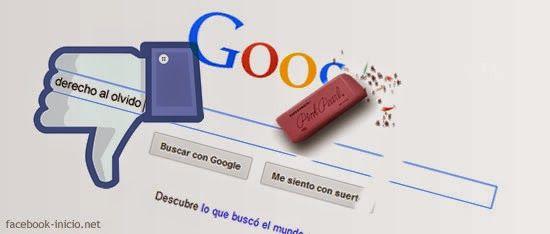 Derecho al olvido: Facebook el afectado por la retirada de enlaces de Google