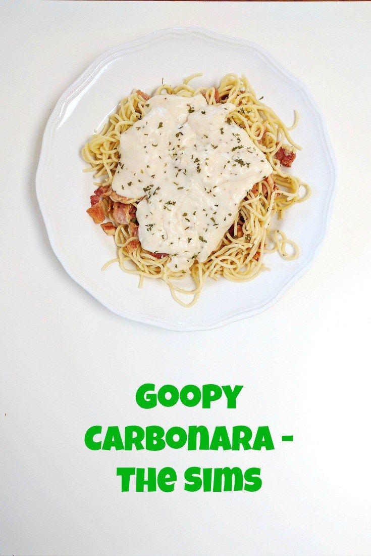 Goopy Carbonara - The Sims Recipe