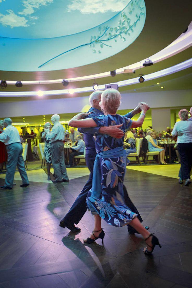 Couples dancing in the beautiful Alvaston Hall Hotel Cabaret Restaurant