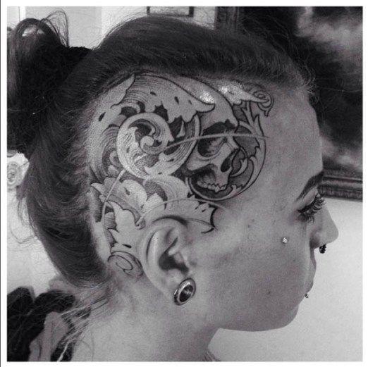 Hardcore tattoo by Klaus Hu Fruhmann. #inked #inkedmag #tattoo #head #ink #hardcore
