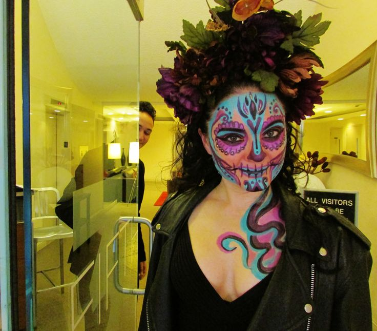 Did you know that Death has a doorman? -Tanna Valentine for Life is Cake. #LifeIsCake #sugarskull #Halloween #TannaValentine