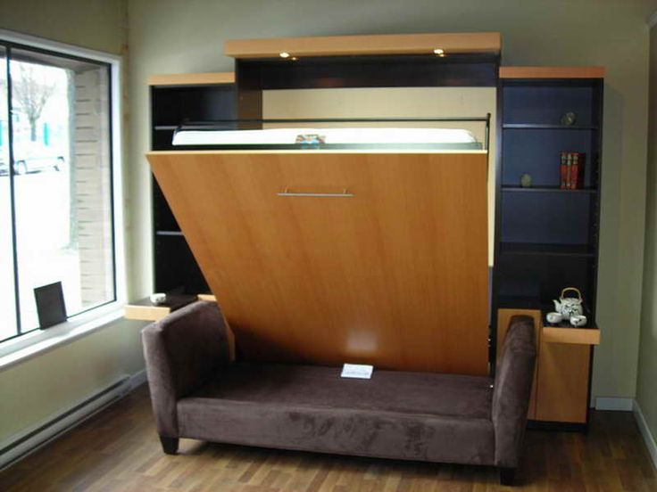 Contemporary Murphy Bed With Couch