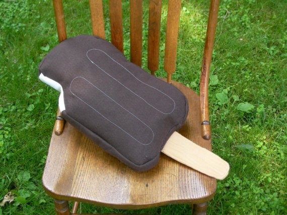 Chocolate Ice Cream Pop Pillow