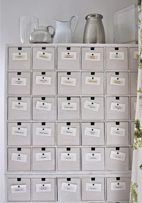 Cards on drawer