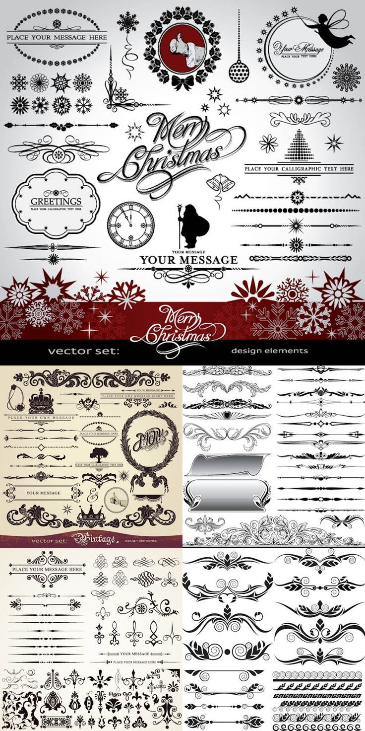 FREE Christmas ornaments and design elements vector   Vector Graphics Blog: