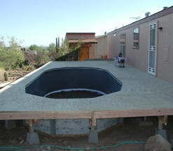 stages of above ground pool