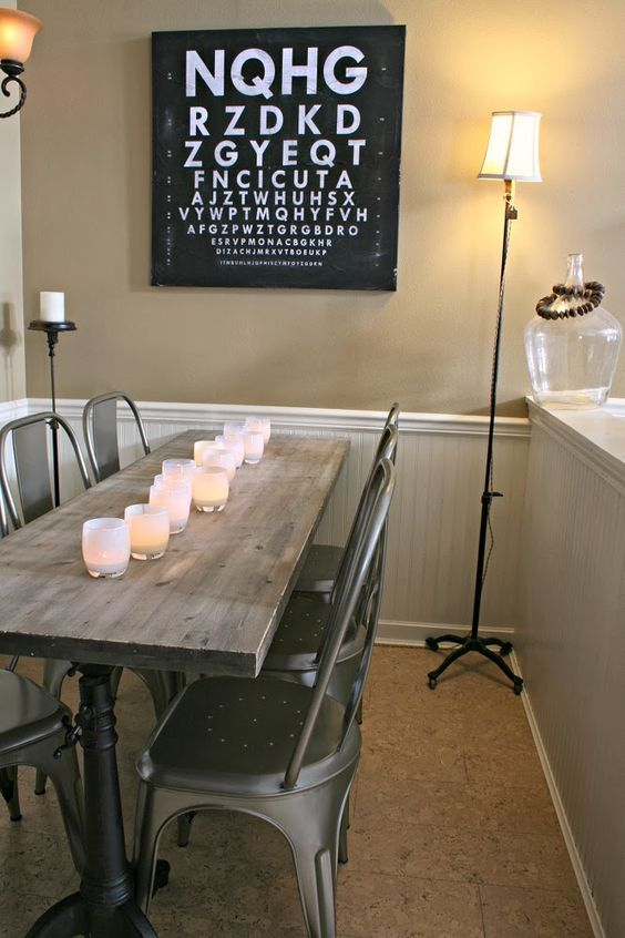 228 best images about metal on pinterest industrial for Kitchen table for narrow space
