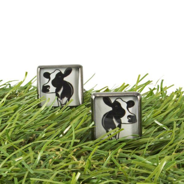 We loved these one-off cow cufflinks - moooooo!