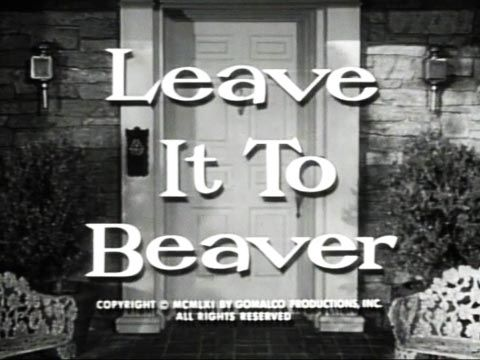 Leave It To Beaver ... I loved this show as a kid (and I still do actually!)