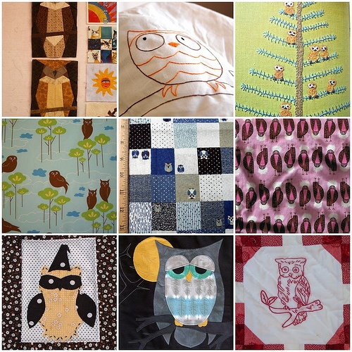 Owl Quilt Ideas by luvs2sew, via Flickr