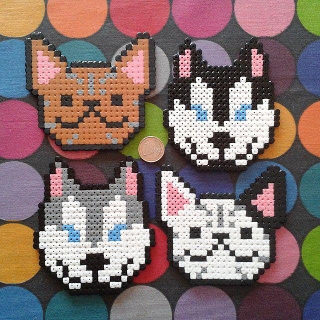 Dogs Hama Perler Beads By La Eire Gata Hama Beads Hama