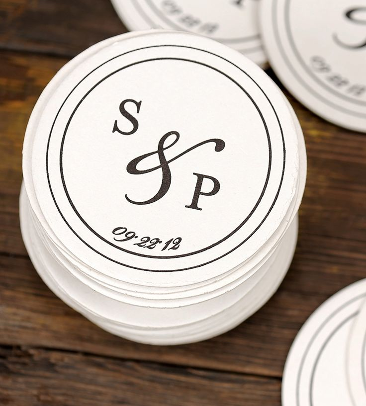 Custom Monogram Wedding Coasters 100-Pack | Remind your family and friends of your upcoming nuptials with ... | Coasters