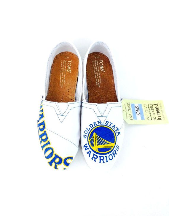 Customize San Francisco Golden State Warriors TOMS