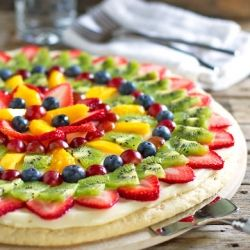 Fruit Pizza: always a winner.: Fruitpizza, Pizza Recipe, Sweet, Fruit Pizzas, Food, Cream Cheese