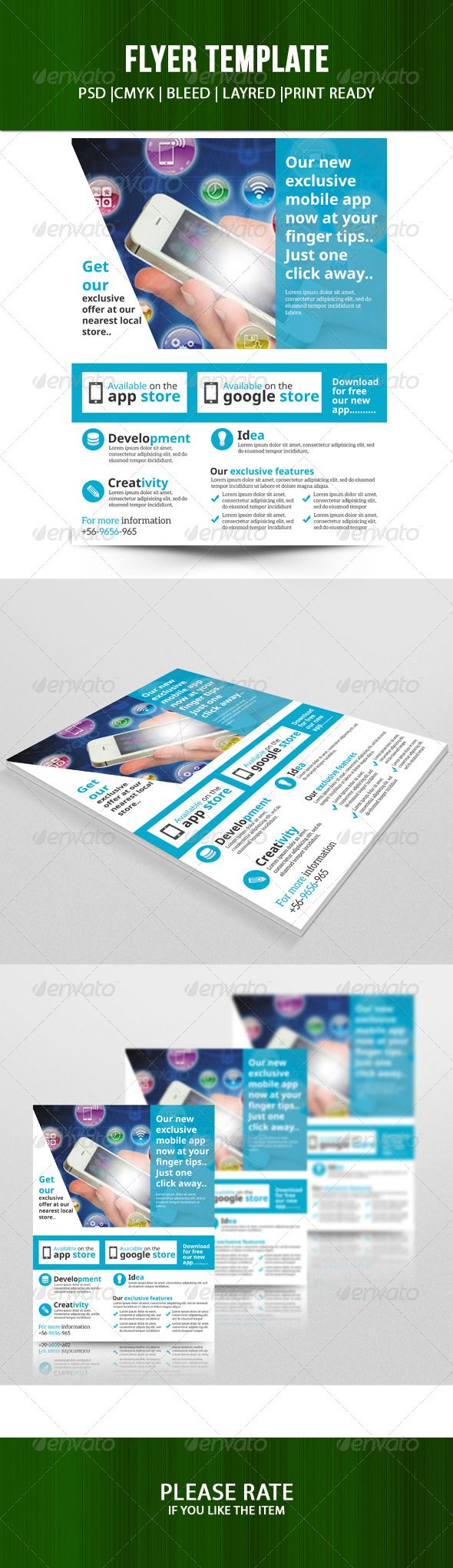 Mobile app store flyer - Corporate Flyers