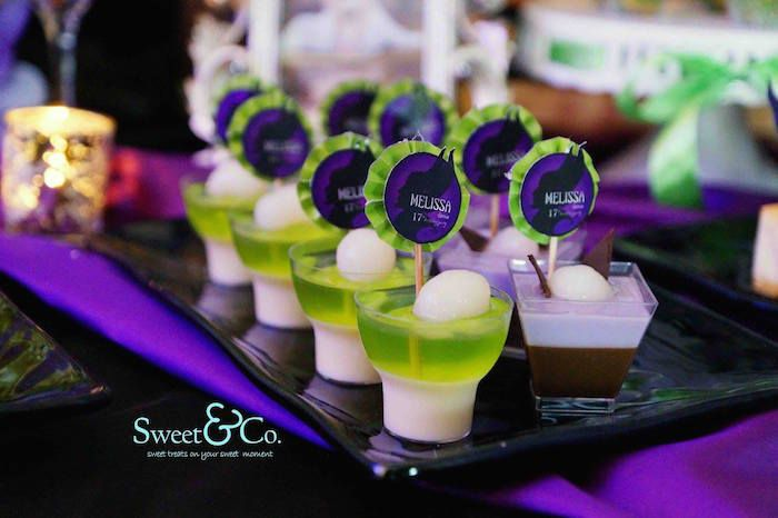 Maleficent Themed 17th Birthday Party via Kara's Party Ideas ...