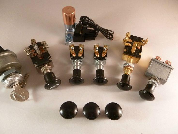 Headlight Dash Switch Ignition Fog Set Bakelight Scta Hot Rod Vtg Retro Classic | eBay