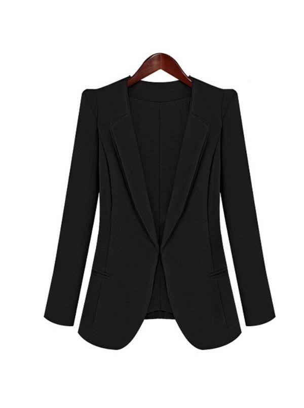black long sleeve Cotton Blends suit -
