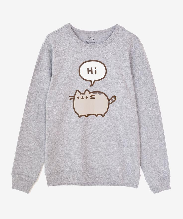 Pusheen Conversation unisex pullover – Hey Chickadee