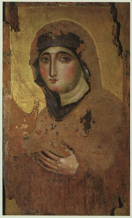 Artista anonimo - Madonna di San Sisto o Madonna di San Luca o Santa Maria del Rosario - proviene da Costantinopoli tra la fine del IV o inizio del V secolo - Chiesa di Santa Maria del Rosario a Monte Mario, Roma