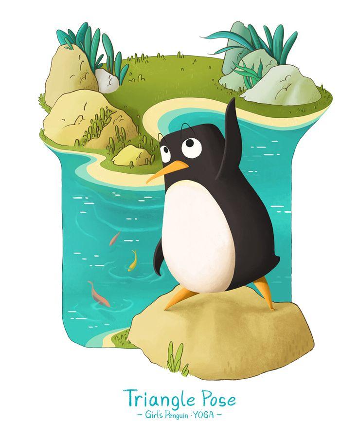 Girl's Penguin • YOGA  Triangle Pose