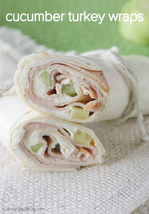 Try these Cucumber Ranch Turkey Wraps for lunch today! Make it with fresh turkey, cucumbers, and ranch cream cheese.