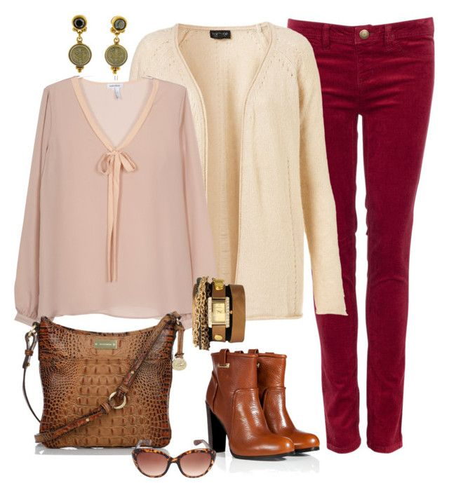 """""""Bordeaux Jeans"""" by fiftynotfrumpy ❤ liked on Polyvore featuring Manoukian, Virgins Saints & Angels, Brahmin, Rachel Zoe, Jessica Simpson, Geneva, watches, luggage, oxblood and cardis"""