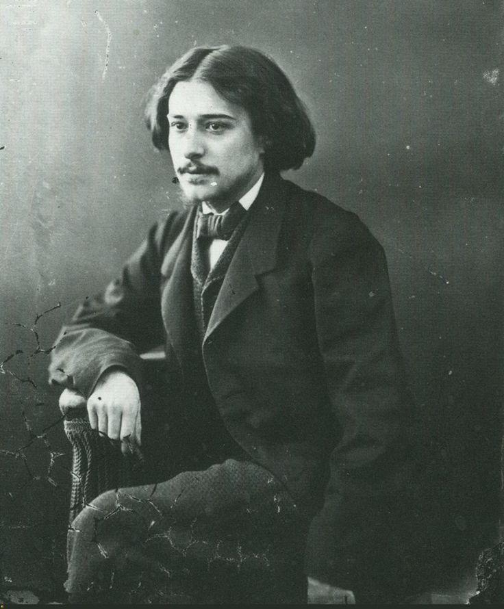 writer Alphonse Daudet, 21 (1840-1897), photographed by Nadar