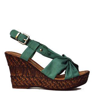 sandalia turquesa